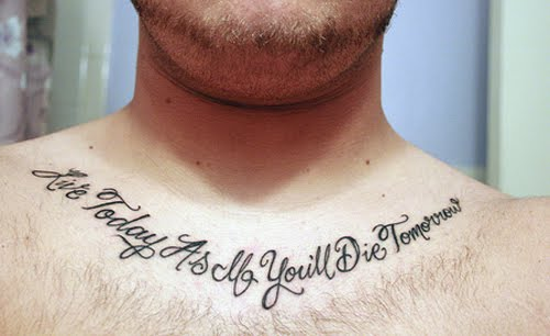 So, show off your collar bone tattoos by choosing some great design that