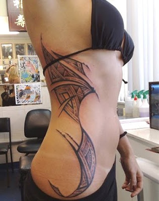 Samoan tattoo designs are known as pe'a for men and malu for women.