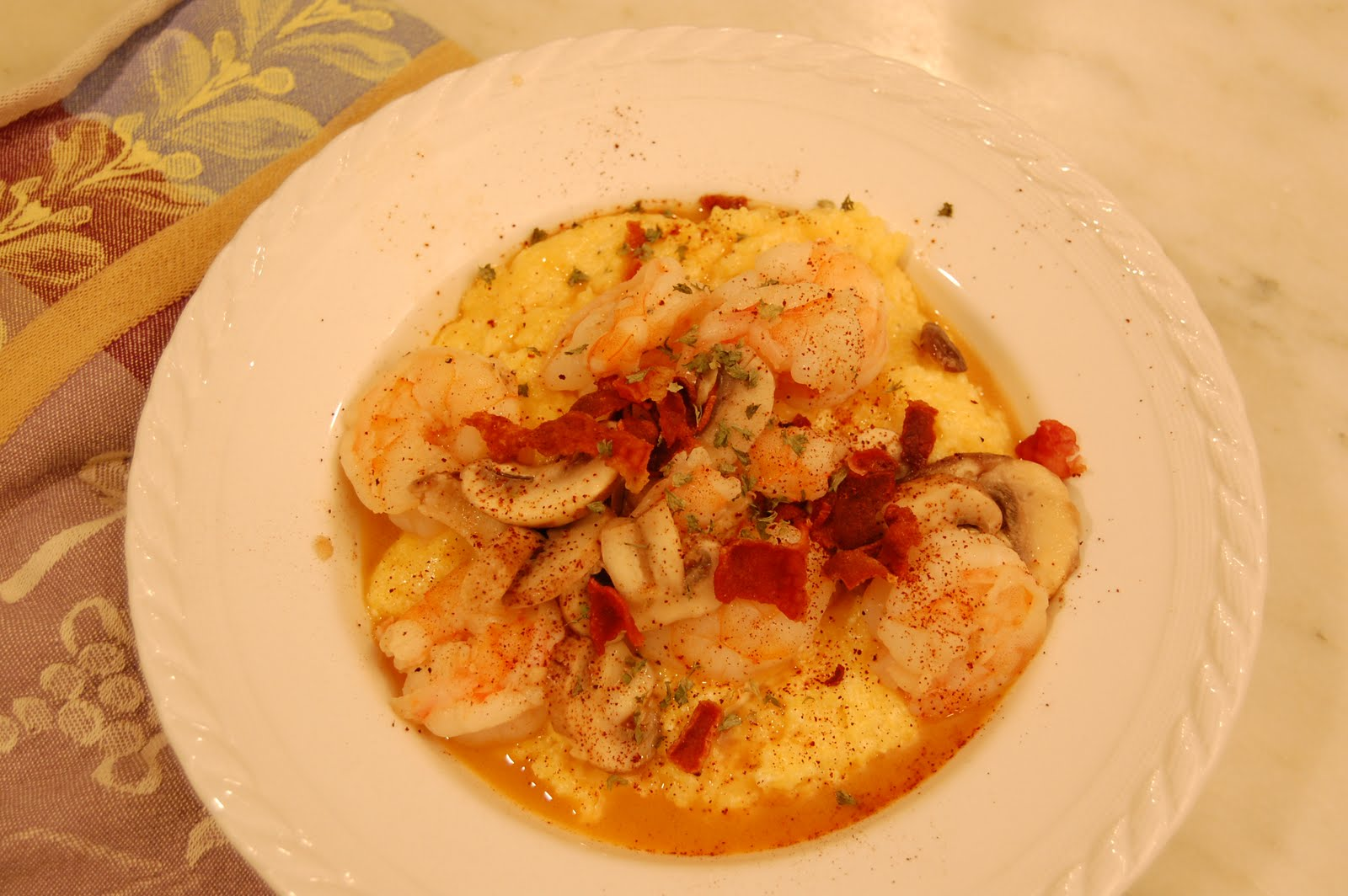 30 Days - No Takeout: Day 5: City Grocery Shrimp & Grits