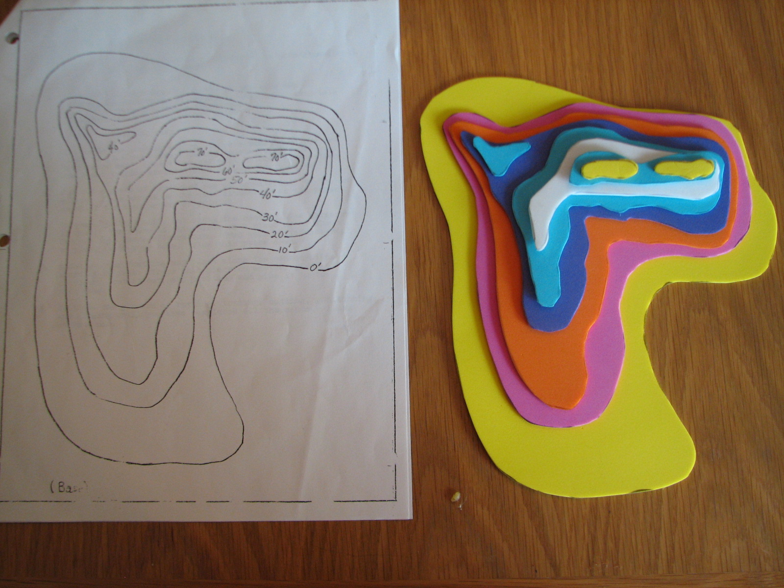 Contour Line Drawing Map : Science matters topographic maps constructing a d model