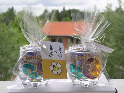 Cerrece regalos de boda cerrece chupitos pintados a mano for Vasos chupito personalizados