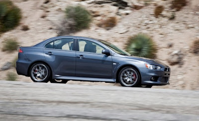 2010 Mitsubishi Lancer Evolution MR Touring Side View
