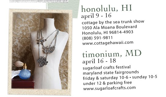 Silver spoon jewelry april show schedule for Sugarloaf craft festival timonium
