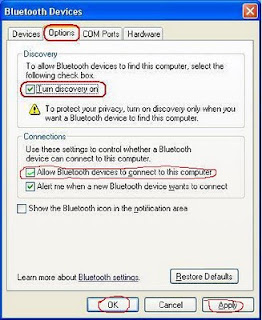 setting Bluetooth Error Saat Turn Discovery On