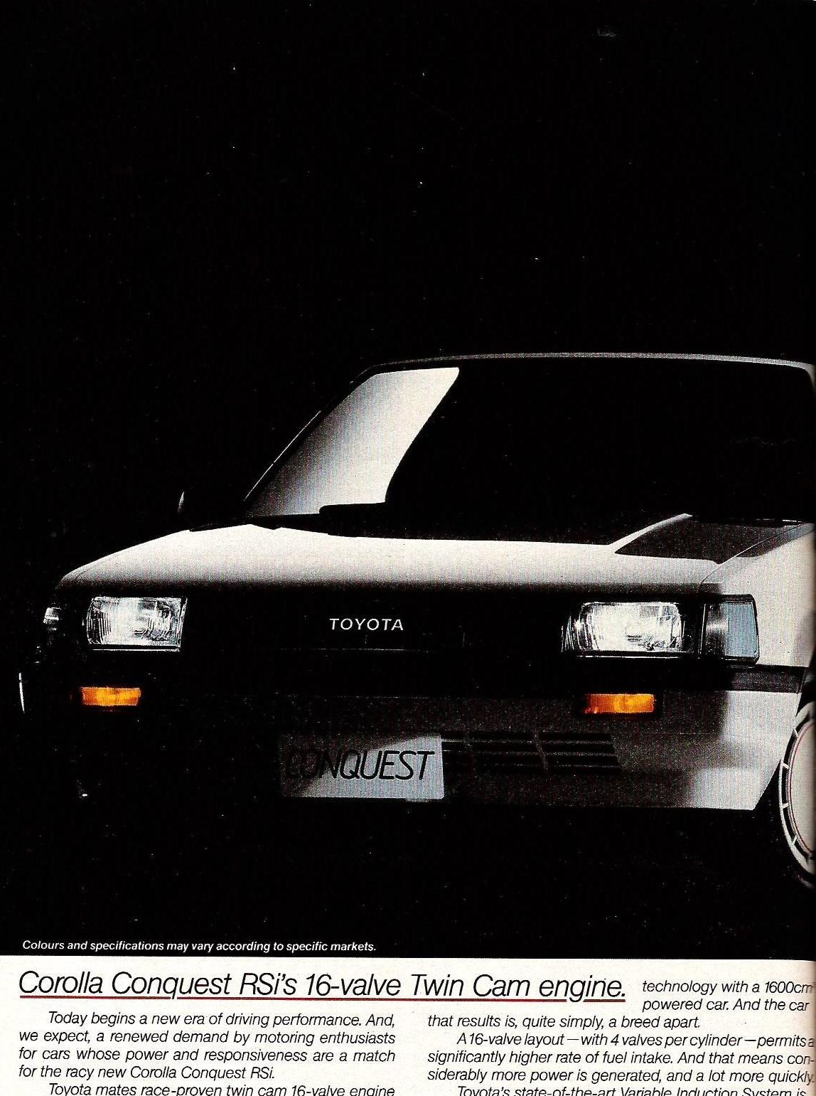 The Rsi Registry 2009 Corolla Rxi 20v Modified Cars Pictures In This Issue Of Wiel Magazine Was Introduced To South Africa Original Name Car Toyota Conquest Twincam 16 A Mouth
