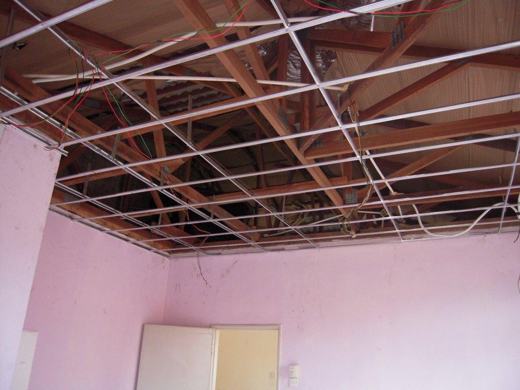 Siling bilik tidur utama siap dipecah utk plaster siling. 2015