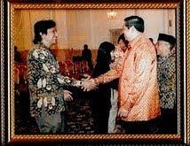 Presiden SBY dan Ikang Fawzi dari PAN