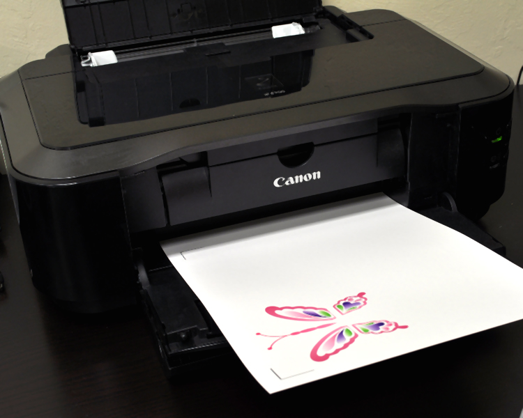 Get a tattoo printer. Now that the document is printed, place your paper on