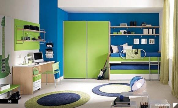 , baños, jardines Dormitorios modernos y alegres para niños