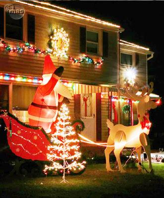 Navidad decoraci n navide a de exteriores - Decoracion en jardines ...