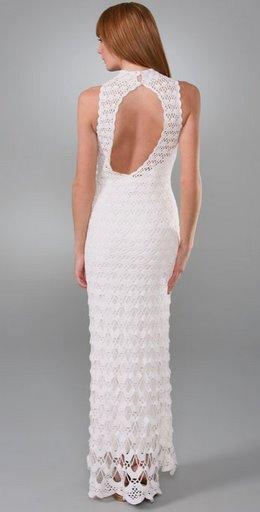 Vestidos de novia sencillos a crochet