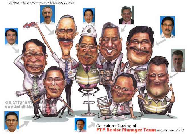 """TEAM""caricature drawing"
