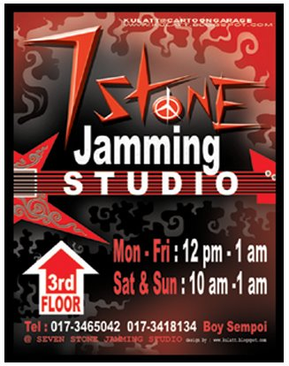 jamming studio poster