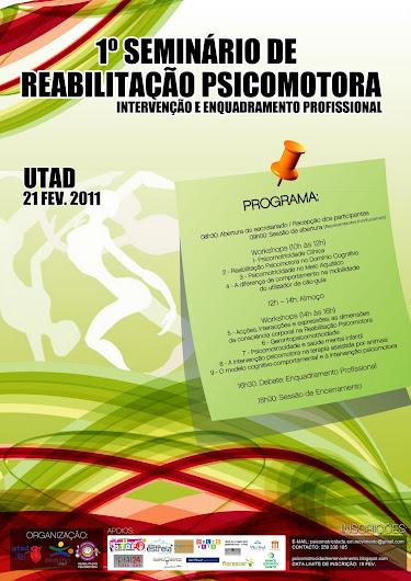 I SEMINARIO DE REABILITAÇÃO PSICOMOTORA: Intervenção e Enquadramento Profissional