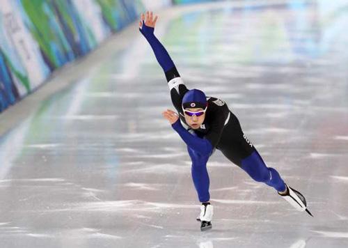 El patinador surcoreano Mo Tae-bum