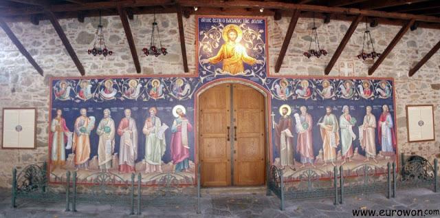 Mural del Monasterio de la Transformación de Nuestro Señor en Meteora