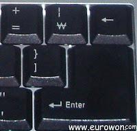 Símbolos especiales de mi teclado coreano
