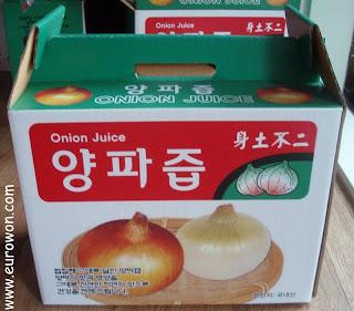 Caja de bolsitas de zumo de cebolla