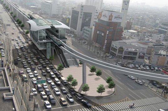 Recreación de una estación del monorraíl de Daegu
