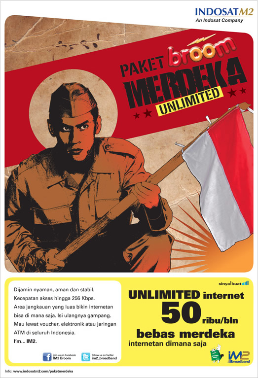 Internet Unlimited: IM2 Broom Merdeka Rp 50rb perbulan
