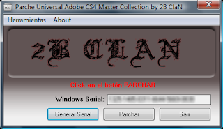 Parche Universal Adobe Master Collection CS4 by 2B ClaN