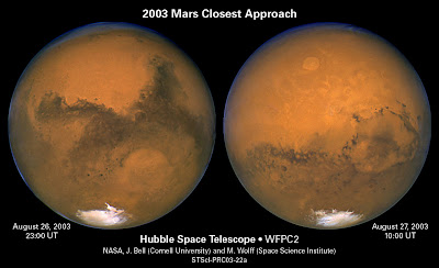 Fotos de Marte captadas por el telescopio espacial Hubble