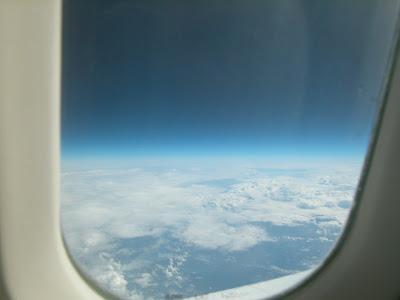 Imagen desde la ventana del Concorde a altitud de crucero, tomada por Travel Scholar
