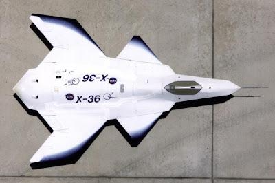 El X-36 y su extraña geometría sin deriva vertical