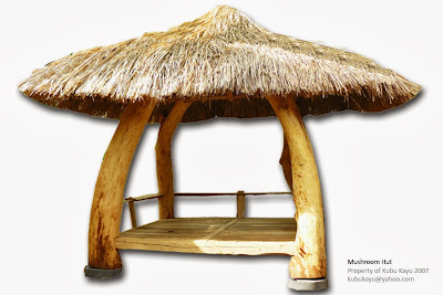 Tropical Hardwood Furniture on Kubu Kayu Furniture   Art   Mushroom Hut  Tropical Style Gazebo
