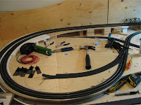 Track installation on left side of layout