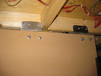 Control panel base hinges