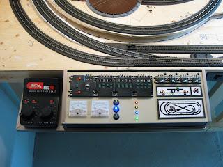 Model train control panel LED