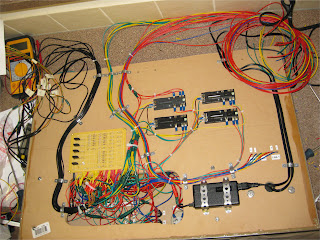 Completed control panel wiring