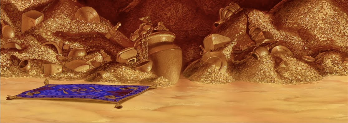 Animation Backgrounds: Aladdin's CAVE OF WONDERS!