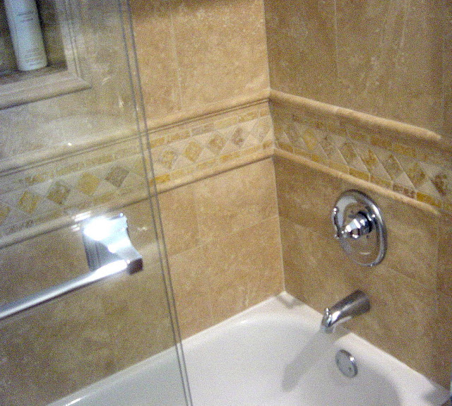 Genc stone inc travertine tile gallery for Travertine tile bathroom gallery