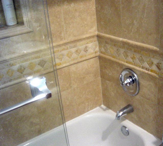 Genc stone inc travertine tile gallery for Travertine bathroom designs
