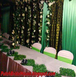 puteh bridal house contoh hiasan meja makan beradap