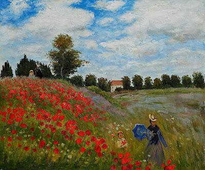 Las obras más conocidas de la pintura y la escultura. 05.Monet+Campo+de+amapolas+en+Argenteuil
