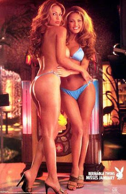 Darlene and Carol Bernaola - Miss January Playboy Playmate 2000