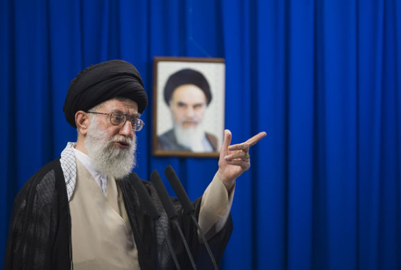 [Supreme+Leader+Ayatollah+Ali+Khamenei+spoke+at+Friday+prayers+on+19+June.+He+demanded+an+end+to+street+protests+and+said+to+protesters+that+any+bloodshed+would+be+their+leaders'+fault.jpg]