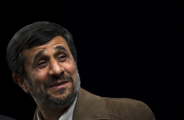 Smiling president of iran