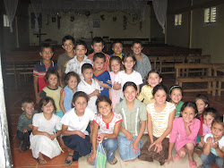 ..kids at a Saturday afternoon catechism class in Ocotepeque...