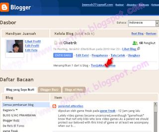 Menambah Status YM di Gadget Profil