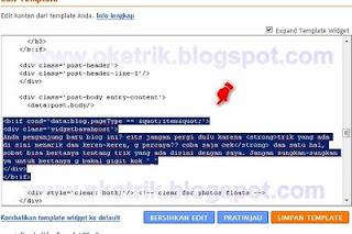 HTML widget dibawah postingan