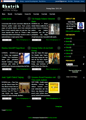 Okemagazine Blogger Template