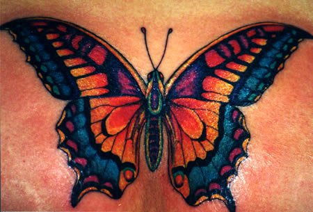 Girl Butterfly Tattoo Design