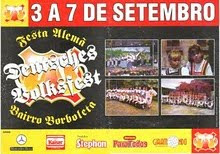 CARTAZ DA FESTA ALEMÃ DE 1998