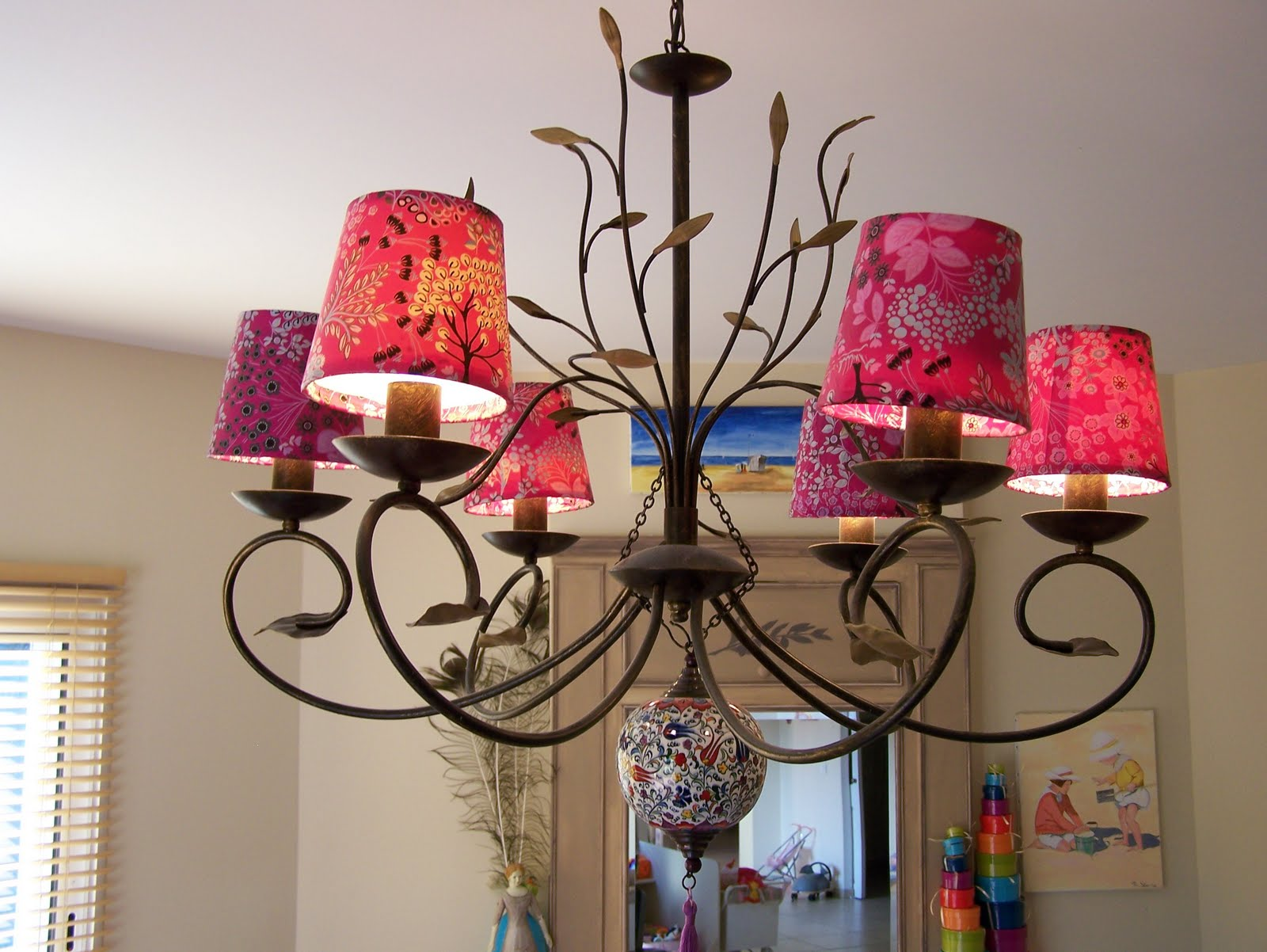 The Lampshade Studio Colorful Chandelier Shades