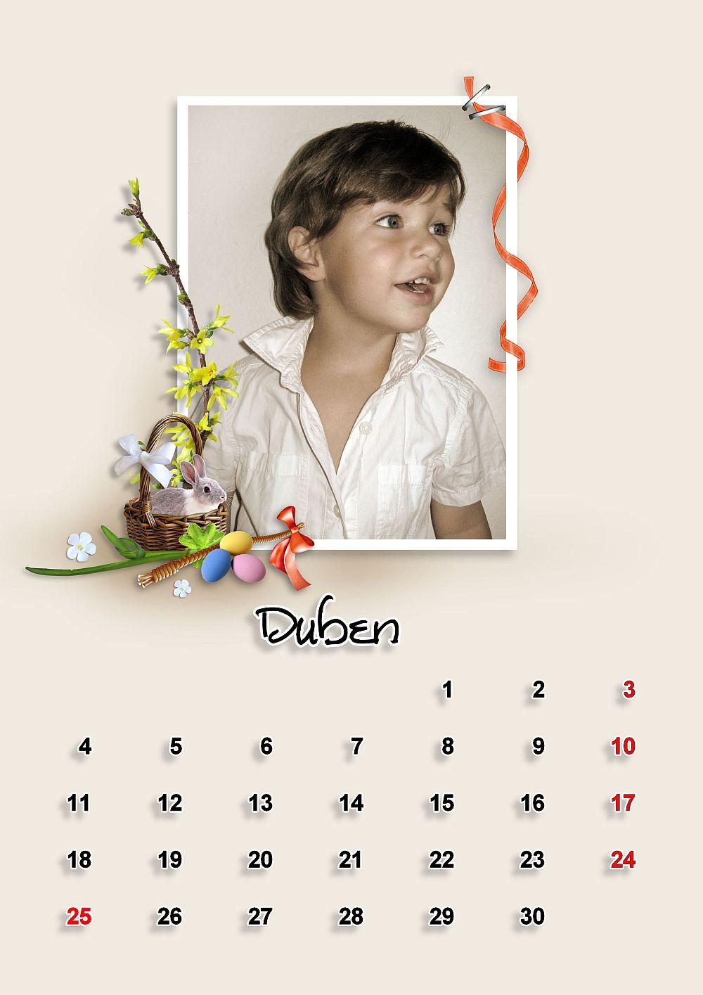 Qp šablony pro kalendář 2011 - a4