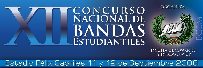 """""""XII CONCURSO NACIONAL DE BANDAS ESTUDIANTILES"""